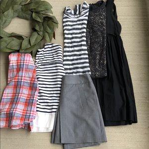 J.Crew Bundle Lot Skirt Shirt Dress Top Blouse